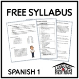 Free Editable Spanish 1 Syllabus