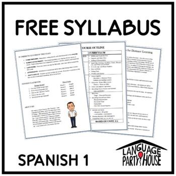 Free Editable Spanish 1 Syllabus