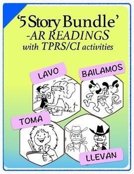 Spanish 1,2: Five TPRS Stories with CI Activities,  Regula