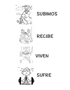 Spanish 1,2: TPRS Story with CI, -IR verbs, Pkt 3(recibir, subir, sufrir, vivir)