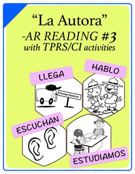 Span 1,2: TPRS Story with CI, -AR Verbs, Pkt 3(escuchar, estudiar,hablar,llegar)