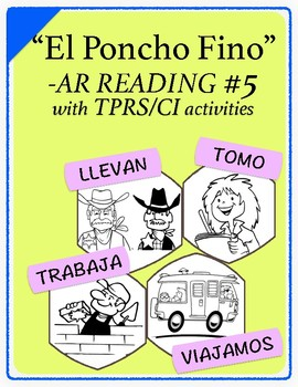 Spanish 1,2: TPRS Story with CI, -AR Verbs Pkt 5 (tomar, t