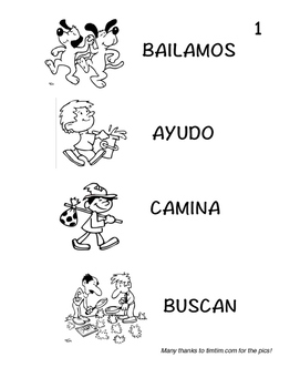 Spanish 1 TPRS Story with CI, -AR Verbs, Pkt 1(ayudar,bailar,buscar,caminar)