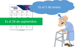 Spanish 1 - TPRS digital story - El Hombre Confundido - Saying the Date