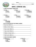Spanish 1 Tener & Calendar Quiz