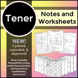 Spanish 1 - Conjugating Tener - Notes, Worksheets, and Activities