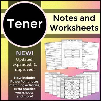 Spanish 1 - Tener Practice Worksheet - Conjugation and Tra