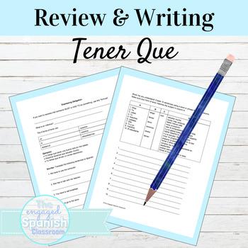 Spanish Tener Que Practice Worksheet