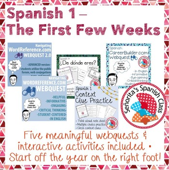Spanish 1 - The First Few Weeks Bundle!