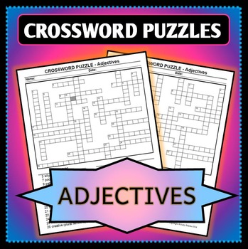 Spanish 1 - Two Crossword Puzzles for Adjectives