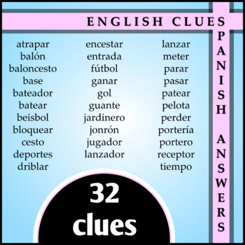Spanish 1 - Two Crossword Puzzles for Sports Vocabulary