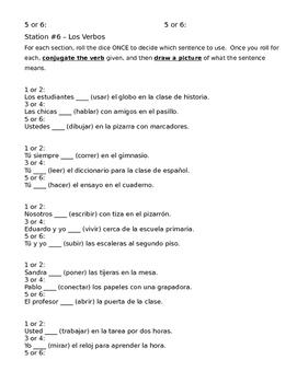 Spanish 1 Unidad 2 Lección 2 Stations Activity