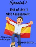 Spanish Skit Unit 1 Assessment Skit with Rubric First Year Spanish