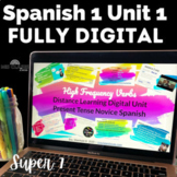 Spanish 1 Unit 1 High Frequency Verbs Present Tense Google Slides Distance