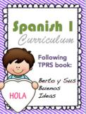 Spanish 1 TPRS curriculum Map
