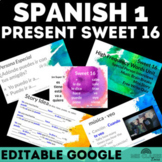 Spanish 1 Unit 2 High Frequency Verbs Present Tense Sweet 16