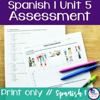 Spanish 1 Unit 5 Assessment
