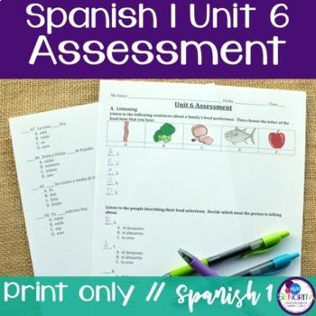 Spanish 1 Unit 6 Assessment