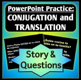 Spanish 1 - Verb Conjugations Story, Question and Answers Powerpoint