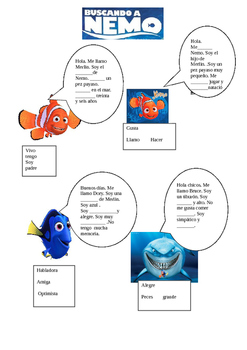 Spanish 1 Video Guide for Finding Nemo