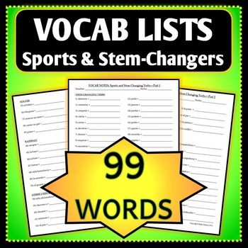 Spanish 1 - Vocab List - Sports, The Body, and Stem-Changing Verbs