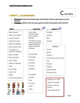 Spanish 1 - Vocabulary List