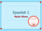 EDITABLE Spanish 1 Warm Ups / Bell Ringers / Do It Nows