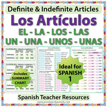 Spanish 1 Worksheets - Definite and Indefinite Articles in Spanish