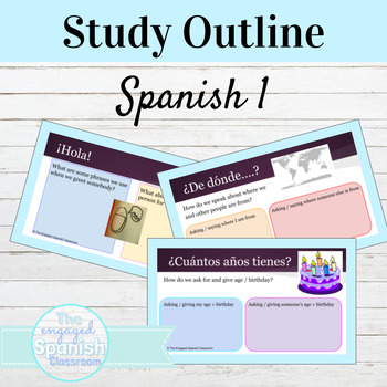 Spanish 1 Introductions and Background Information Review Packet