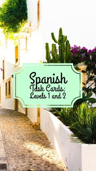 SpanishTask Cards: Speaking Activities for Levels 1 and 2