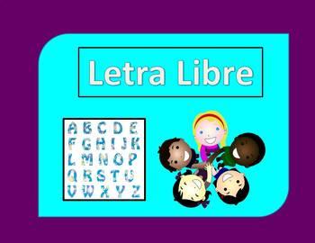 Spanish 1 and 2 vocabulary review game: Letra libre