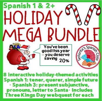 Spanish 1 and 3+ - Holiday MEGA Bundle!