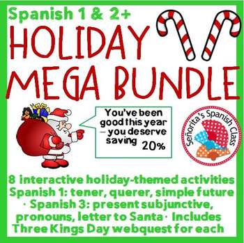 Spanish 1 and 3+ - Holiday MEGA Bundle!