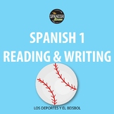 Spanish 1 authentic reading & writing activity about sports