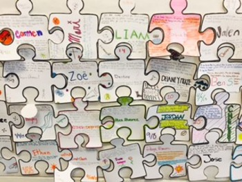 Spanish 1 - beginning of the year - puzzle piece activity