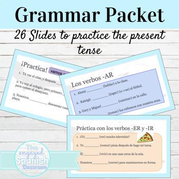 Spanish 1 Practice Presentation: Present tense of er/ir verbs + infinitives