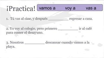 Spanish 1 Present Tense ER IR Verbs Practice Activity Packet
