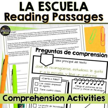 Spanish 1 school escuela: interpersonal writing