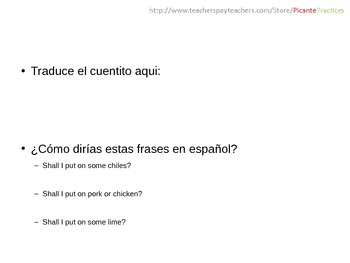 Spanish 1/2/3 grab bag of sponges/bell ringers.  Emergency sub plans for Span 3!