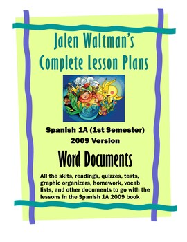Spanish 1A 2009 Supplemental Word Documents