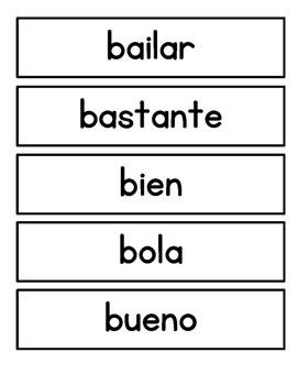 Spanish 1st Grade Sight Words Part 1