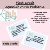 Spanish 1st grade End of Year Review Word Problems