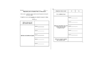 Spanish- 1st year (7th Grade) Final Exam Review Unit
