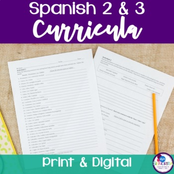 Spanish 2 & 3 Curricula BUNDLE