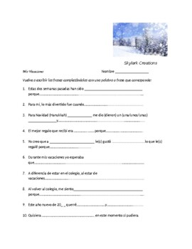 Spanish 2   Survey and Speaking Activity  After Spring Break