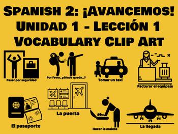 Spanish 2: Avancemos Unit 1 - Lesson 1 Vocabulary Clipart