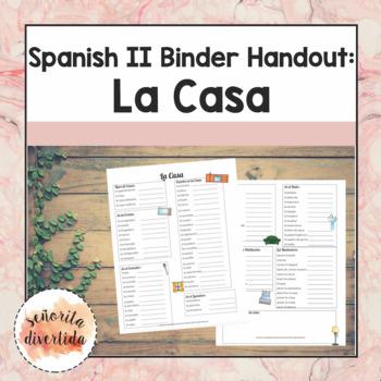 Spanish 2 Binder Handout: Home