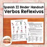 Spanish 2 Binder Handout: Los Verbos Reflexivos / Reflexive Verbs