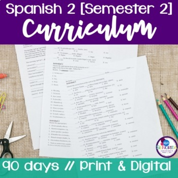 Spanish 2 Curriculum {Semester 2}
