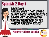 Spanish 2 - Day 1 Daily Tech Guide 90% TL 100% Comprehensible Input